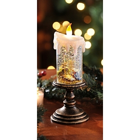 Pre-Lit Acrylic Snow Globe Candles