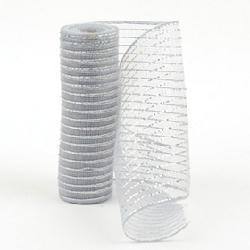 Metallic Silver Mesh Ribbon