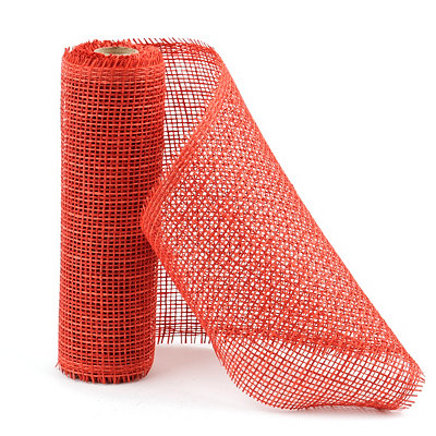 Red Paper Mesh Ribbon