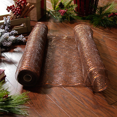 Wide Bronze Mesh Ribbon