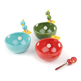 Christmas Ornament Serving Bowls & Spreaders