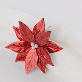 Red Holly Napkin Ring