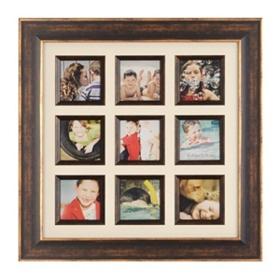 Bronze 9-Opening Social Media Collage Frame