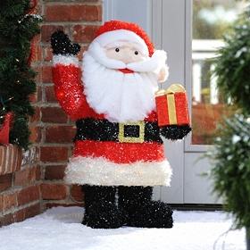 Pre-Lit Santa Claus, 28 in.