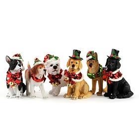 Christmas Dog Statue