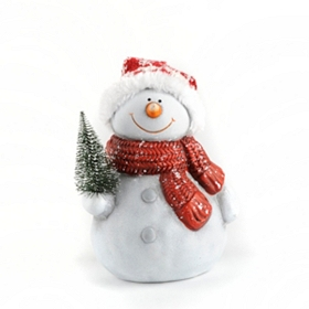 Jolly Ceramic Snowman