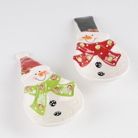 Ceramic Snowman Spoon Rest