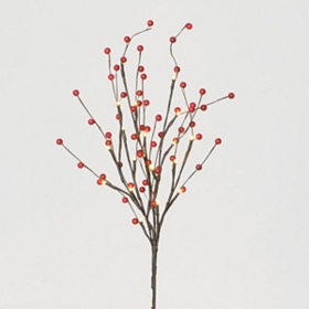 Pre-Lit Red Berry Branches, 31.5 in.