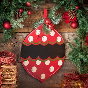 Christmas Ornament Chalkboard Plaque