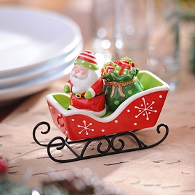 Santa's Sleigh Salt & Pepper Shakers