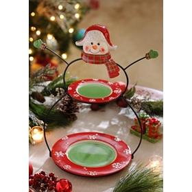 Snowman Double Serving Platter