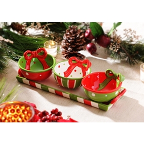 Triple Dip Christmas Bowls
