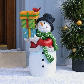 Frosty Snowman Bird Feeder