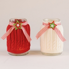 Christmas Knit Wrap Jar
