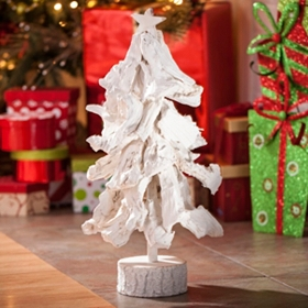 White Wooden Tree, 19 in.