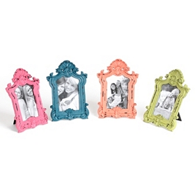 Colorful Ornate Vintage Picture Frames, 4x6