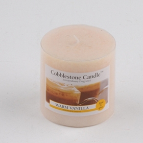 Warm Vanilla Pillar Candle