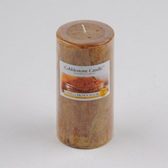 Vanilla Brown Sugar Pillar Candle, 6 in.