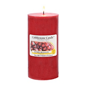 Pomegranate Pillar Candle, 6 in.