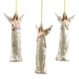 Sugared Angel Ornament