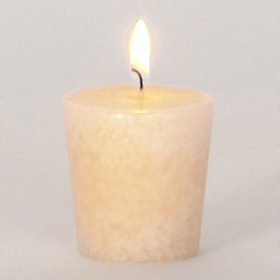 Warm Vanilla Ivory Votive Candle