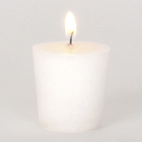 White Clean Linen Votive Candle