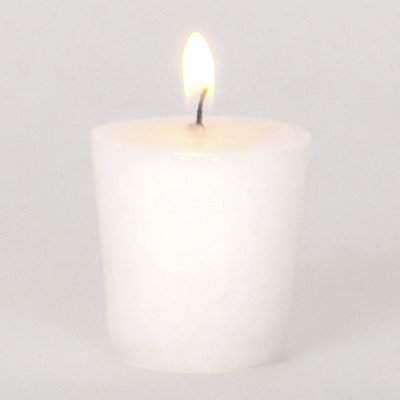 White Clean Linen Votive Candle