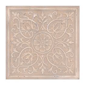 Cream Medallion Tile Wall Plaque