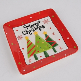 Ceramic Merry Christmas Plate