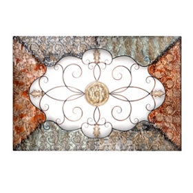 Lauren Metal Wall Plaque