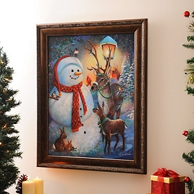 Mr. Snowman & Friends Framed Art Print