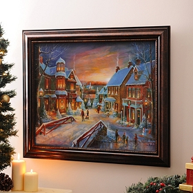 Christmas Village Framed Art Print