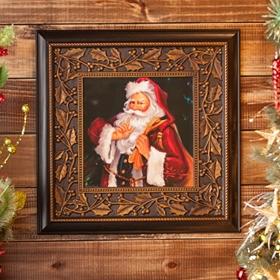 SHH! Santa Framed Art Print
