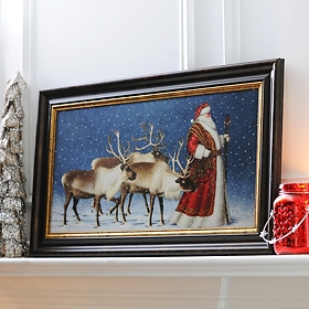 Jolly Old St. Nicholas Framed Art Print
