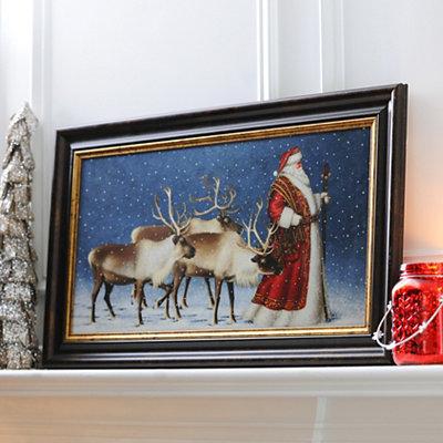 Jolly Old St. Nicholas Framed Art Print