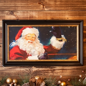 Santa's Flight Framed Art Print