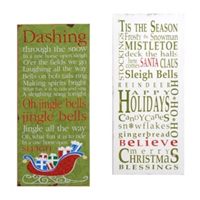 Christmas Canvas Art Plaque