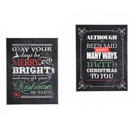 Christmas Canvas Chalkboard Print