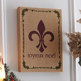 Joyeux Noel Canvas Art Print