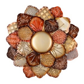 Spice Flower Metal Wall Plaque