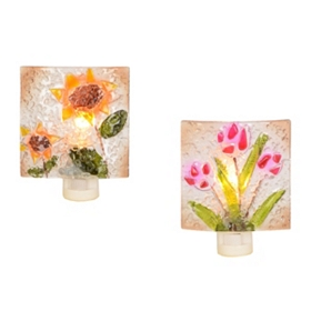 Crushed Glass Floral Night Light