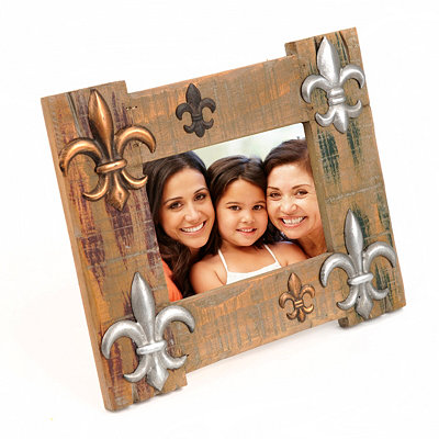 Distressed Fleur-de-Lis Photo Frame