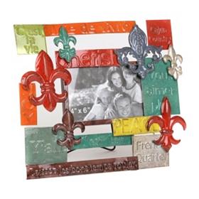 Fleur-de-Lis Metal Picture Frame, 4x6
