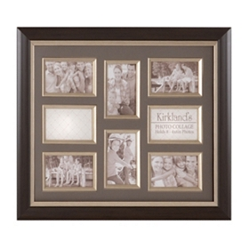Espresso & Gray 8-Opening Collage Frame
