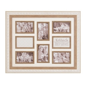 Distressed Cream 8-Opening Collage Frame