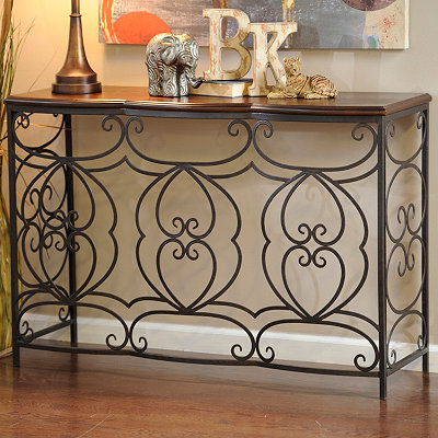 Savannah Black Metal Console Table