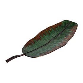 Metal Banana Leaf Tray