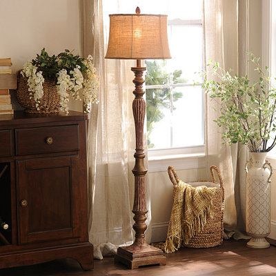 Rustic Red Floor Lamp