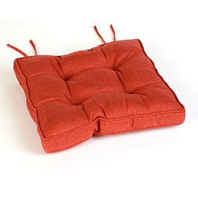 Red Linen Chair Pad
