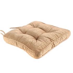 Tan Linen Chair Pad